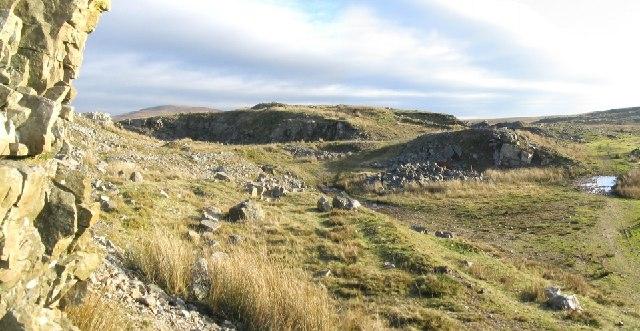 Disused Quarry on Mynydd Isaf