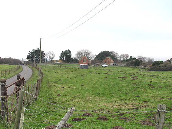 Steart hamlet with St. Andrew's church