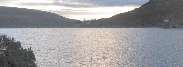 Upper Lliw reservoir wall