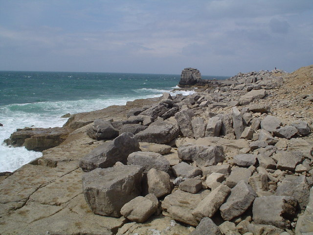 The rocky coast at Portland Bill