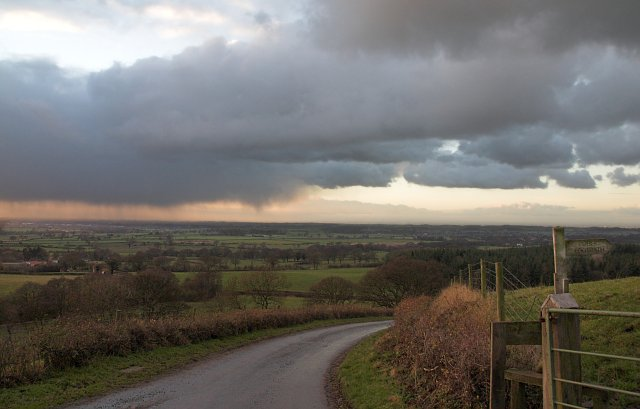Road above Easby