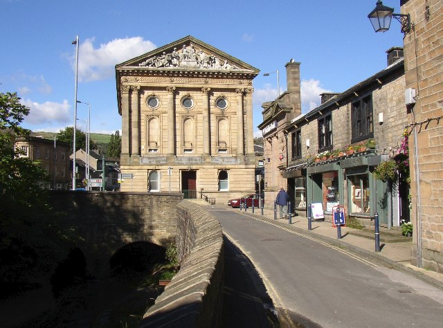 Water Street and the Town Hall, Todmorden