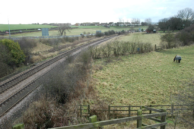 Looking towards Eastfield from railway bridge