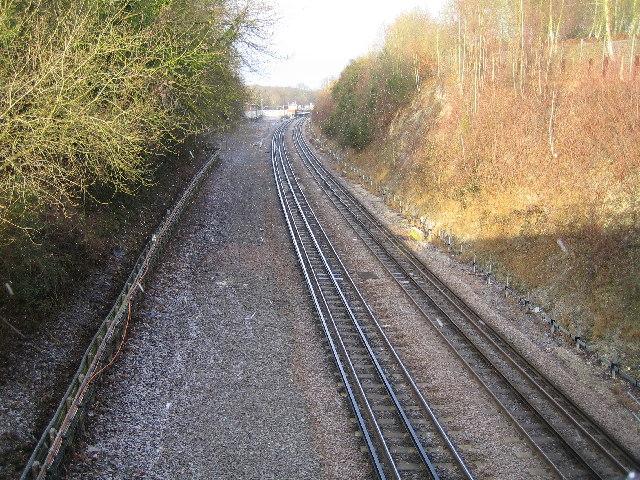 Metropolitan Line railway near Chorleywood