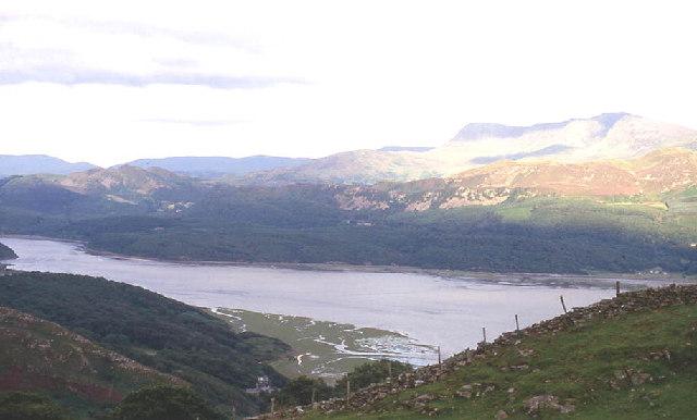 View across Mawddach estuary to Cader Idris