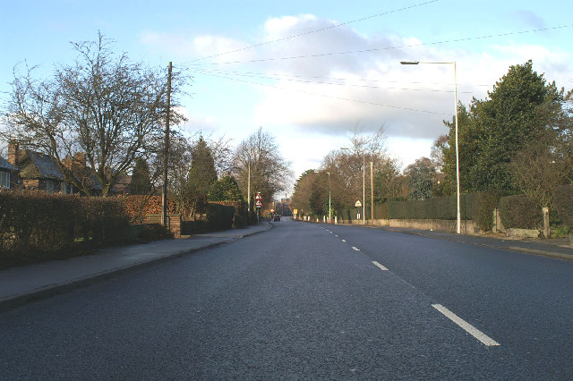 The St Helens Road into Ormskirk