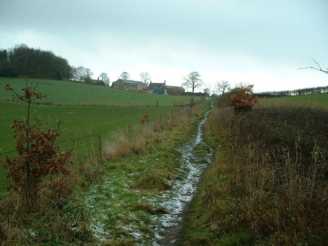 Footpath up to Toppit Farm
