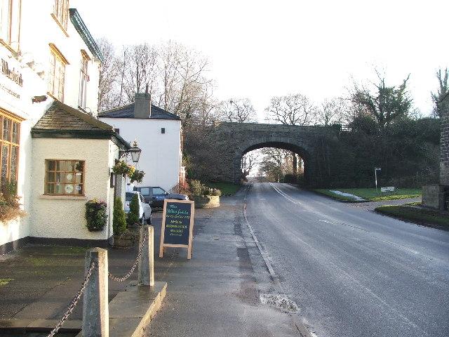 Railway bridge by 'The Wharfedale'.