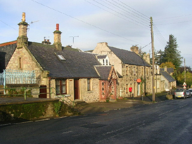 Main Street and Post Office at Allanton