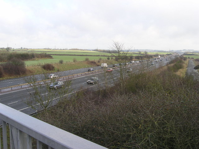 M4 Motorway looking towards J18, South Gloucestershire