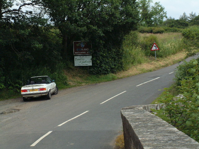 England-Scotland border at Penton Bridge