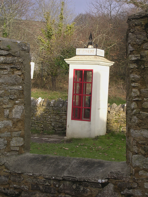 1940s telephone kiosk, Tyneham, Isle of Purbeck