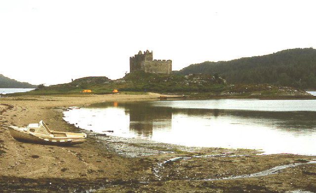 Castle Tioram from the sandspit