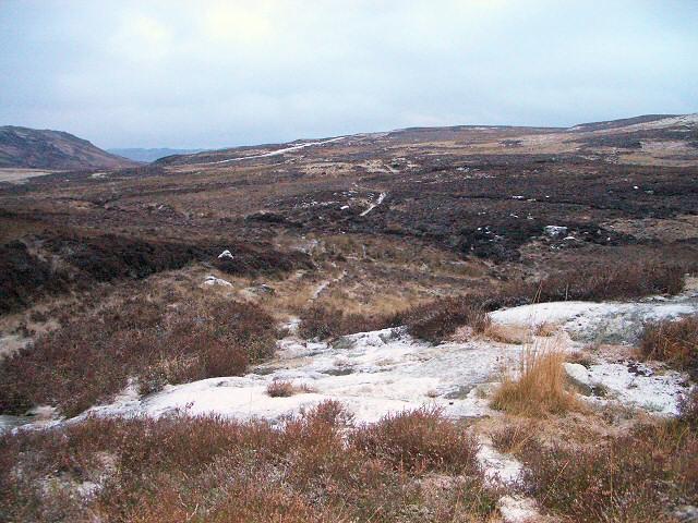 Wintry moorland