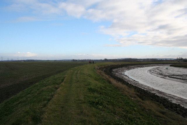 Sea wall at Faversham Creek