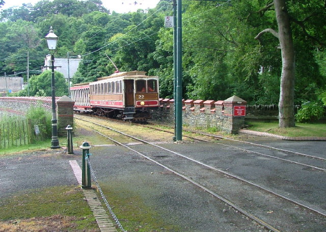 Tram arriving from Douglas - Laxey Station