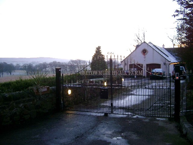 Gallowmuirhead Farm at Dusk on Christmas Day