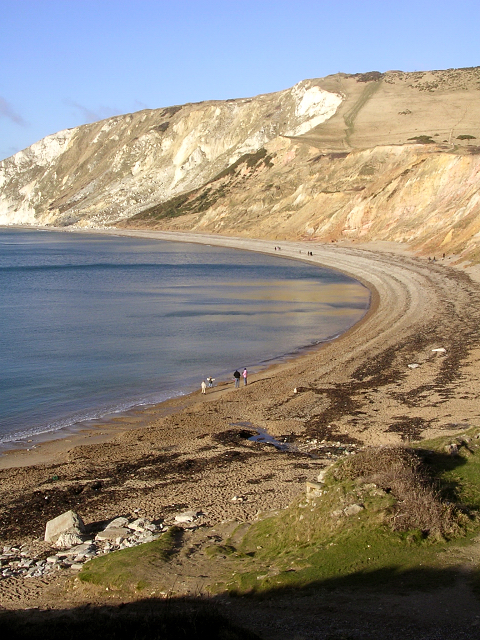 Beach and cliffs at Worbarrow Bay, Isle of Purbeck