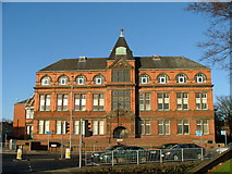 SJ8651 : Tunstall Library and Baths by Steve Lewin