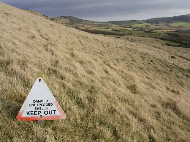 Danger on Rings Hill, Isle of Purbeck