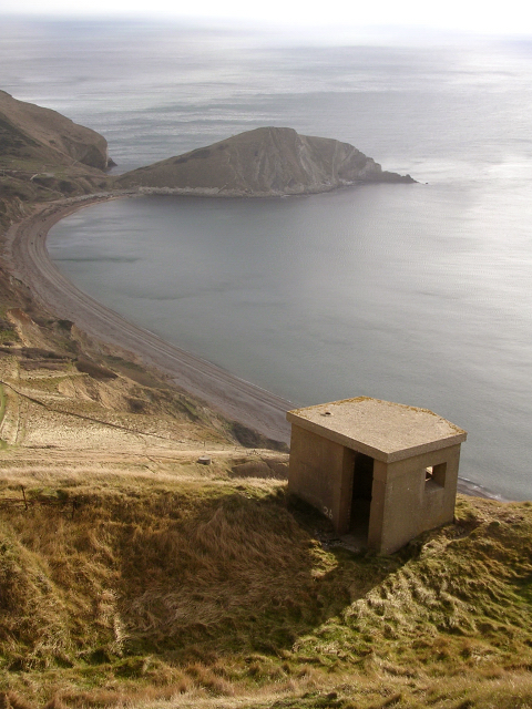 Second World War lookout above Worbarrow Bay, Isle of Purbeck