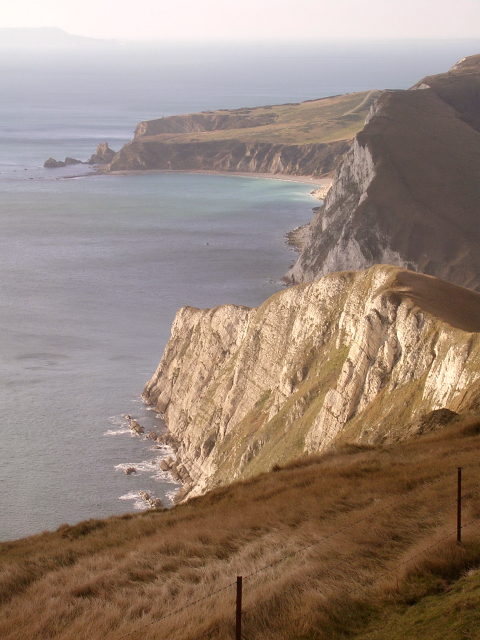 Coastal scenery in  Worbarrow Bay, Isle of Purbeck