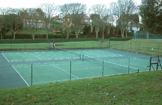 Tennis courts at Scarborough Sports Club