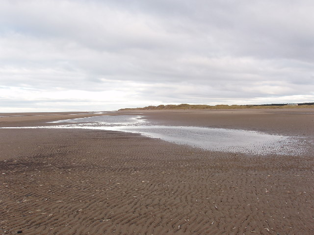 Tidal pools on sand banks, Formby