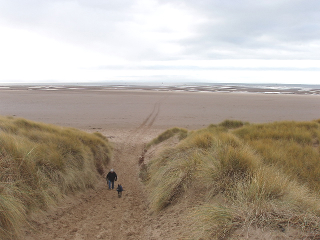 Track through Raven Meols Hills sand dunes