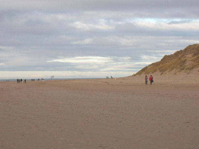 Boxing Day walkers at Formby Point