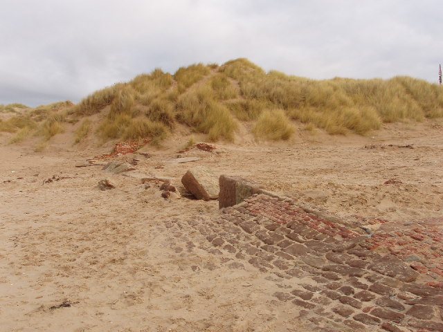 Ruins of lifeboat station, Formby Point