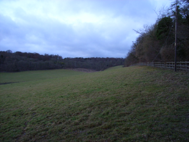 The valley north of Danesfield