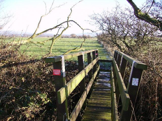 Footbridge near Cockersands Abbey