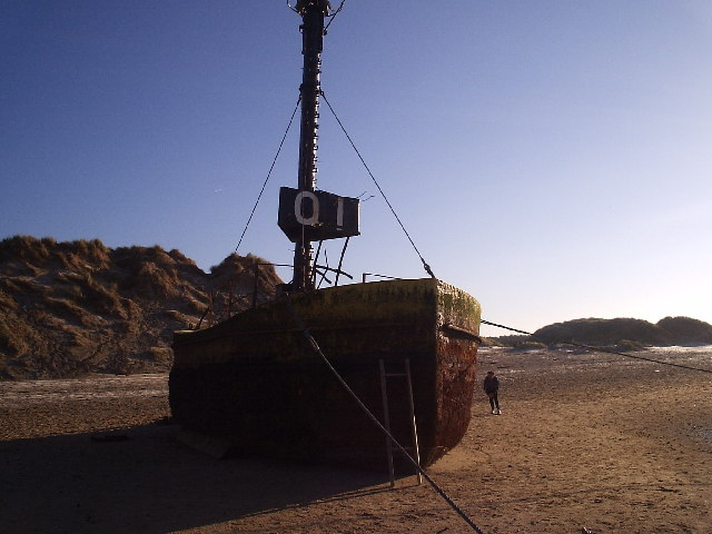 Wrecked channel buoy