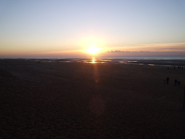 Formby Beach Winter Sunset