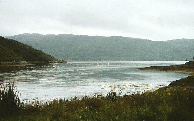 Salen Bay and across Loch Sunart