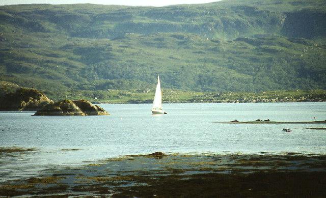 Glenborrodale Bay with Risga island on left
