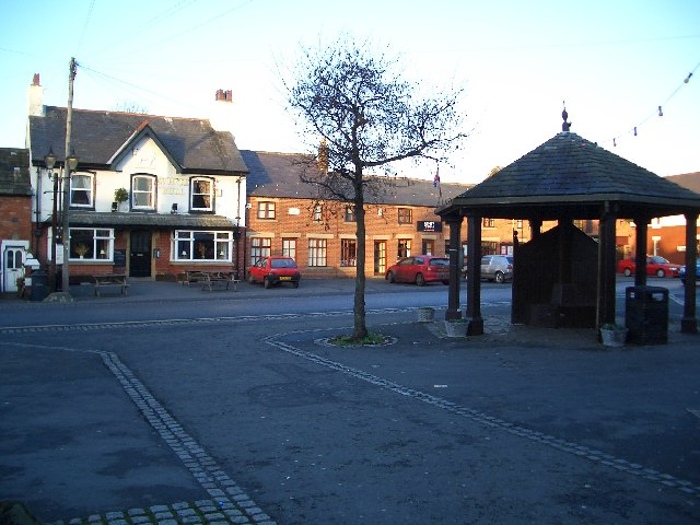 Great Eccleston Market Square and The White Bull Public House
