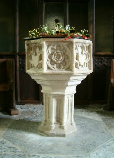 Font in St Dunstan's Church