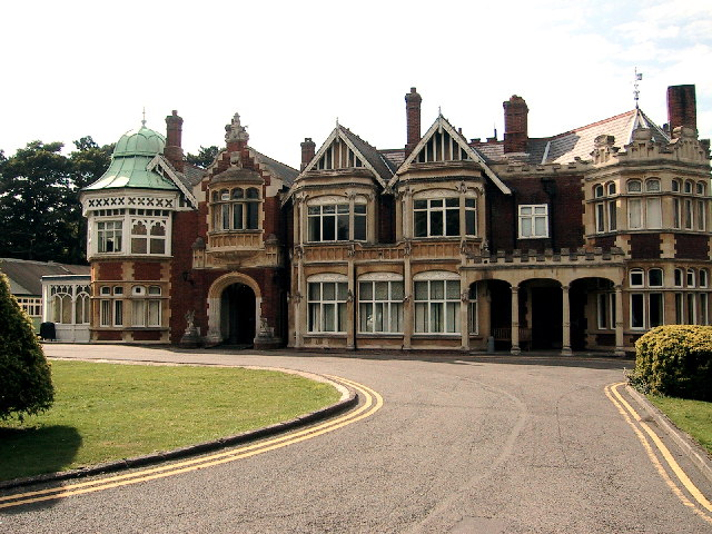 The manor house at Bletchley Park
