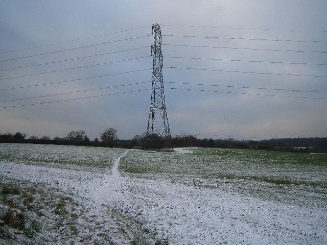 Footpath across Farmland at Pickford Green