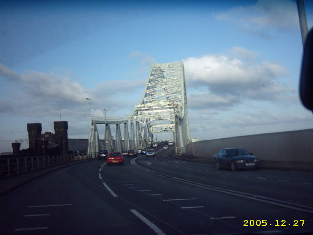 Runcorn Bridge heading for Widnes