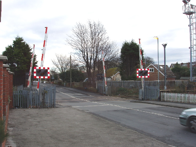 Level crossing in Formby