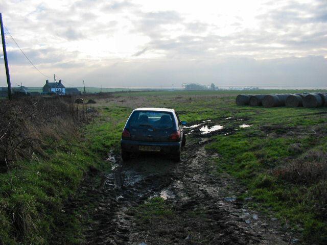 Car in a field - Marcross