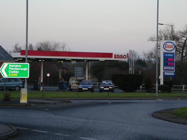 Petrol station, Burbage bypass