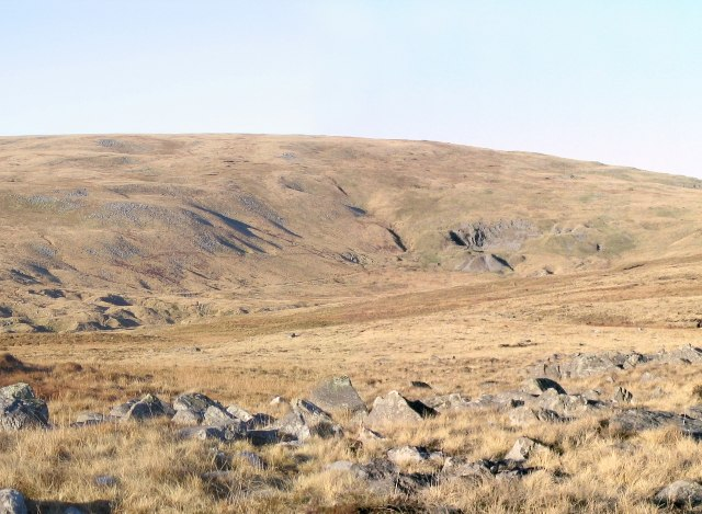 Former quarry on southwest slope of Foel Fraith