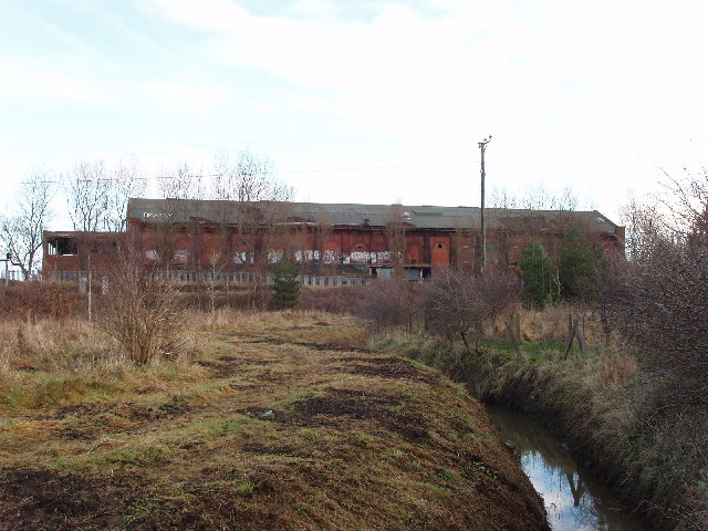 Derelict railway power station at Altcar, Formby