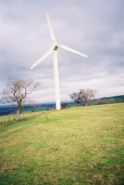 Wind turbine above Newlands