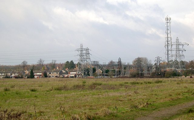 Electricity Substation on the outskirts of Bourne