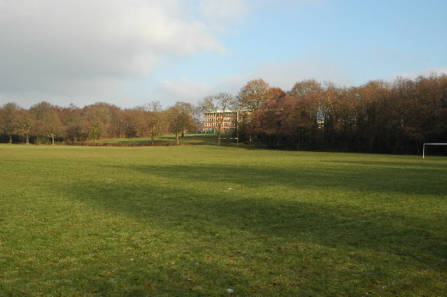 Croesyceiliog Comprehensive's rugby pitches.